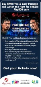 pacquiao vs margarito fight at resorts world manila